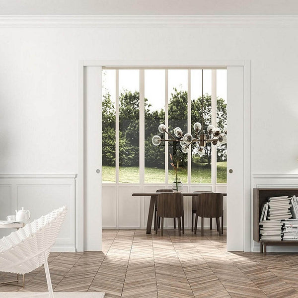 Eclisse Classic Double Pocket Door System - 826+826x2040mm - 100mm Wall Thickness
