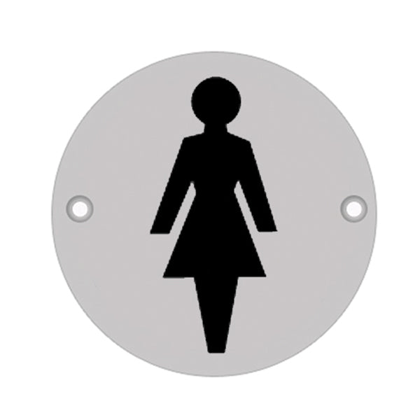 75mm Dia 'Female' Symbol sign