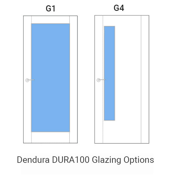 DURA-100 White Primed Door