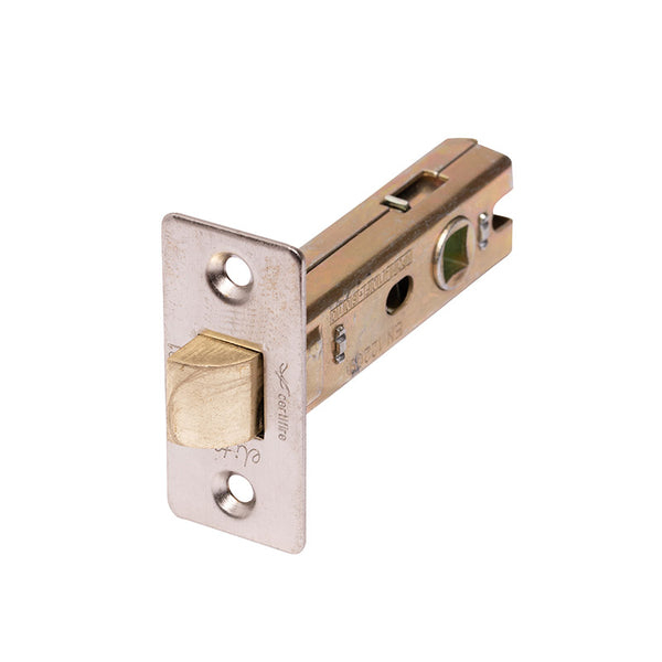 Heavy duty mortice latch, fire rated