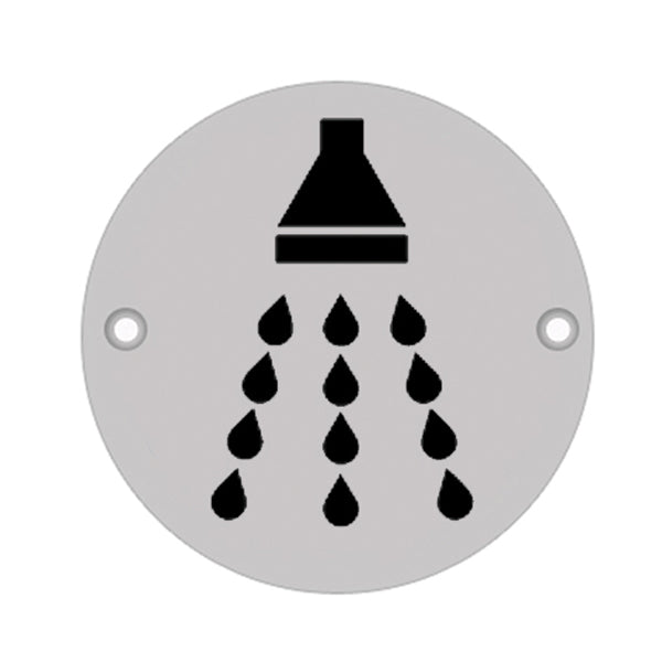 75mm Dia 'Shower' Symbol sign