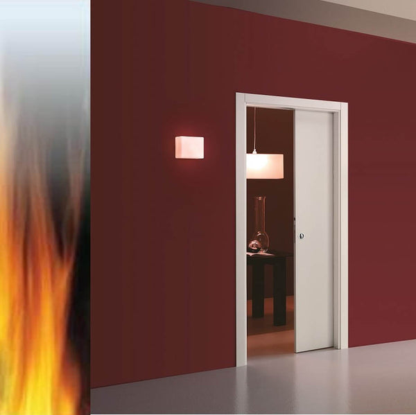 Eclisse Classic Fire Rated Single Pocket Door System - 762x1981mm - 100mm Wall Thickness