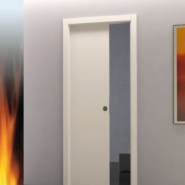 Eclisse Classic Fire Rated Single Pocket Door System - 626x2040mm - 100mm Wall Thickness