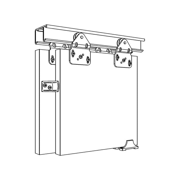 Wardrobe Double Sliding Door Track System 50kg
