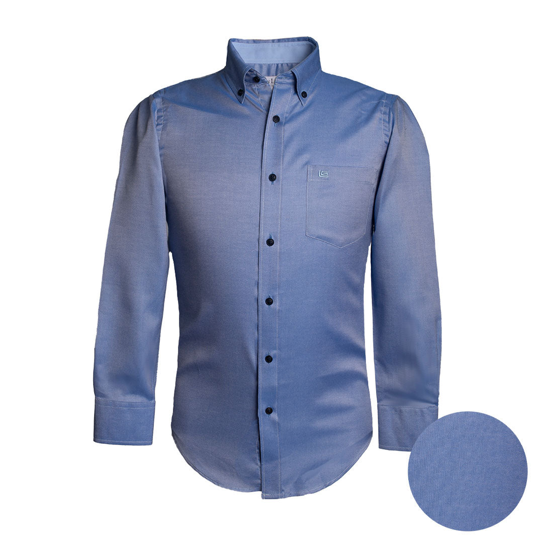 Camisa Sport Manga Larga Oxford Azul Guy Laroche - CS00698B