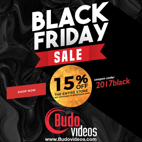 Black Friday budovideos.com sale 15% off