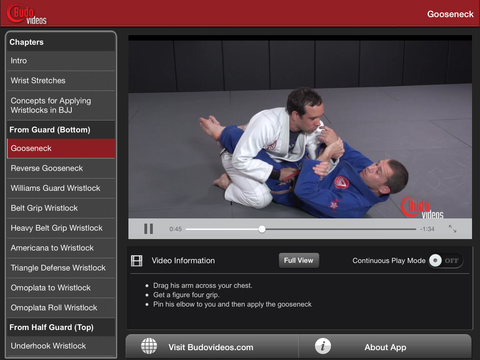 Effective Wristlocks for BJJ by Budo Jake Vol 1 - ipad landscape menu image