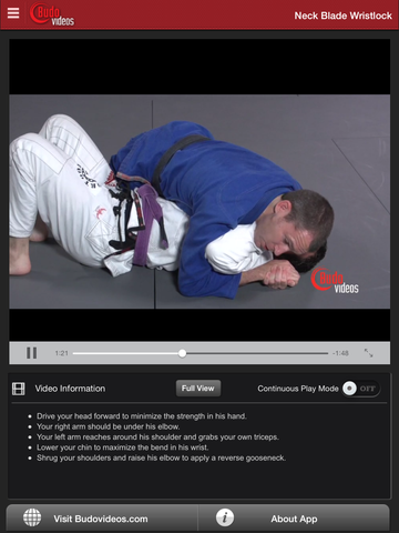 Effective Wristlocks for BJJ by Budo Jake Vol. 2 - ipad chapter action image