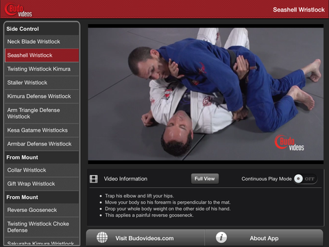 Effective Wristlocks for BJJ by Budo Jake Vol 2 - ipad landscape menu image