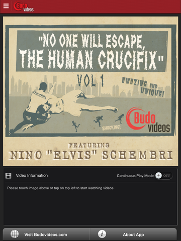 Human Crucifix Vol 1 by Nino Schembri - ipad main title screen image