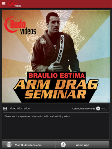 Arm Drag Seminar by Braulio Estima - ipad main title screen image