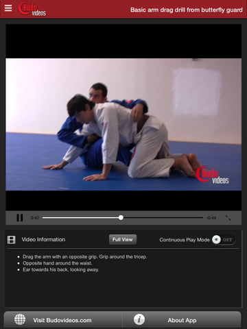 Arm Drag Seminar by Braulio Estima - ipad chapter action image