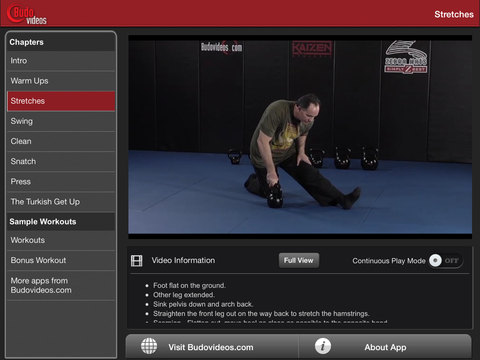Kettlebell Basics with Rik Brown - ipad landscape menu image