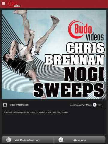 Nogi Sweeps by Chris Brennan - main title screen image