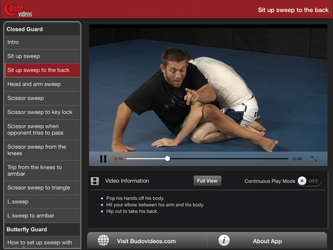 Nogi Sweeps by Chris Brennan - ipad landscape menu image