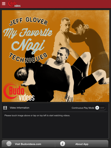 My Favorite Nogi Techniques by Jeff Glover - ipad main title screen image