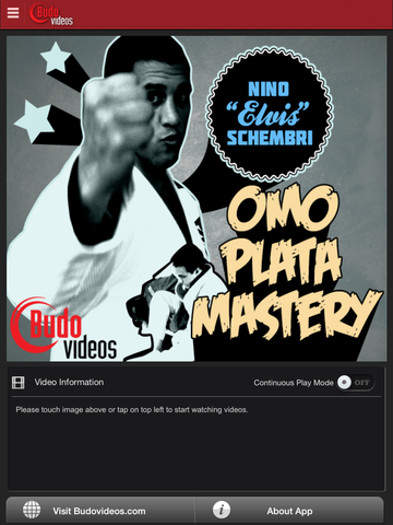 Omo Plata Mastery Seminar by Nino Schembri - ipad main title screen image