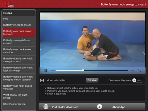 Killer Butterfly BJJ Sweeps by Nino Schembri - ipad landscape menu image