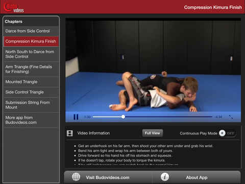 No Gi Blueprint - Subs from the Top by Keenan Cornelius Vol 3 - ipad landscape menu image