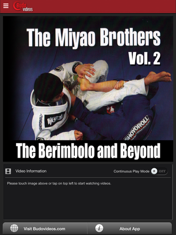 The Berimbolo and Beyond by Miyao Brothers Vol. 2 - ipad main title screen image