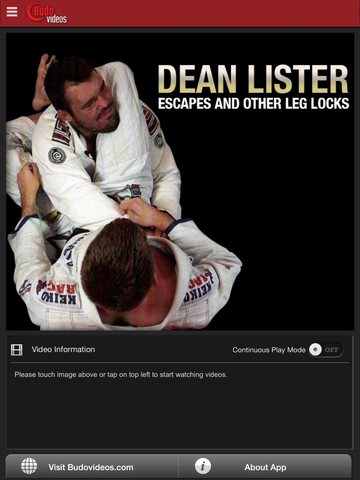 Escapes and Other Leg Locks by Dean Lister - ipad main title screen image