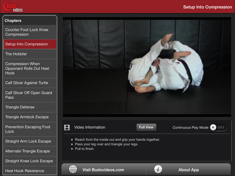 Escapes and Other Leg Locks by Dean Lister - ipad landscape menu image