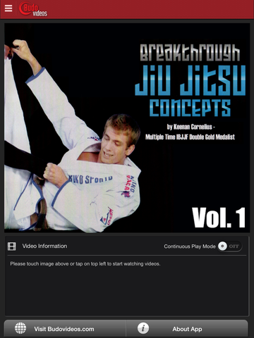 Breakthrough Jiu Jitsu Concepts Vol 1 - ipad main title screen image