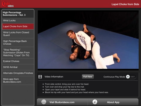 Breakthrough Jiu Jitsu Concepts Vol 3 - ipad landscape menu image