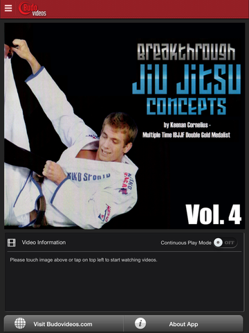 Breakthrough Jiu Jitsu Concepts Vol 4 - ipad main title screen image