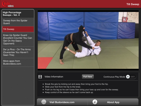 Breakthrough Jiu Jitsu Concepts Vol 4 - ipad landscape menu screen image