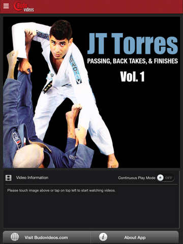 Passing, Back Takes, and Finishes by JT Torres Vol. 1 - ipad main title screen image