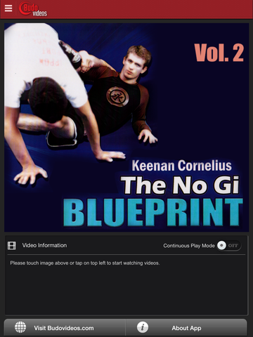No Gi Blueprint - Guard Submissions by Keenan Cornelius Vol 2 - ipad main title screen image