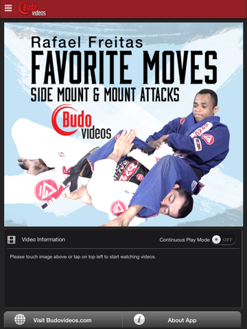 Rafael Freitas Favorite Moves- Side Mount & Mount Attacks - ipad main title screen image