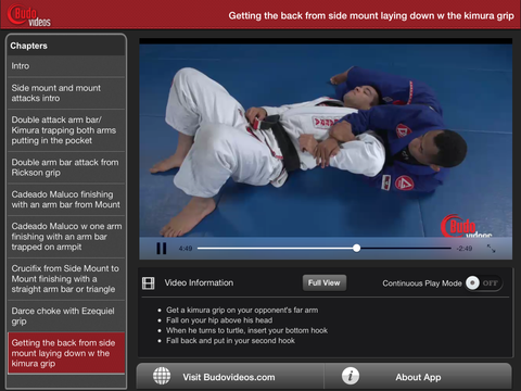 Rafael Freitas Favorite Moves- Side Mount & Mount Attacks - ipad landscape menu image