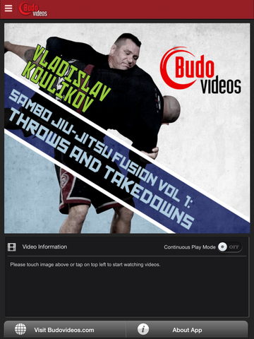 Sambo Jiu-jitsu Fusion Vol 1 - Throws and Takedowns by Vladislav Koulikov - ipad main title screen image