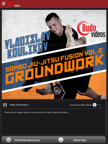 Sambo Jiu-jitsu Fusion Vol 2 - Ground Work by Vladislav Koulikov - main title screen image