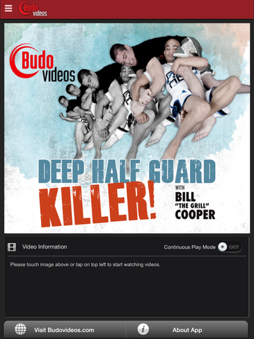 Deep Half Guard Killer by Bill Cooper - ipad main title screen image
