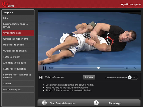 Deep Half Guard Killer by Bill Cooper - ipad landscape menu image