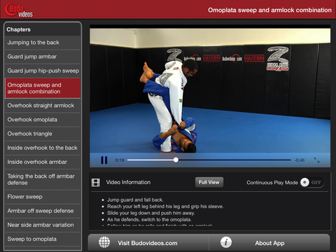 Cobrinha BJJ Vol 1 - Closed Guard - ipad landscape menu image
