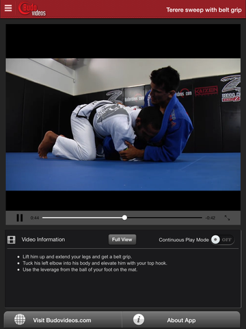 Cobrinha BJJ Vol 2 - Butterfly Guard - ipad chapter action image