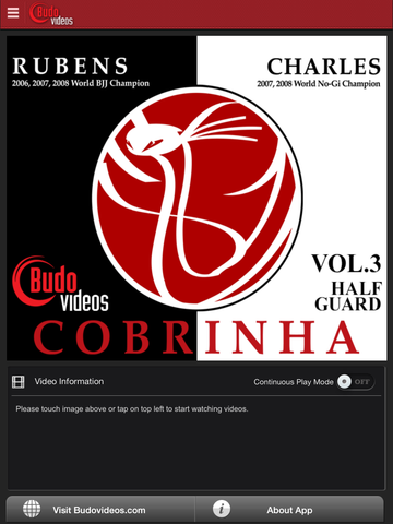 Cobrinha BJJ Vol 3 - Half Guard - ipad main title screen image