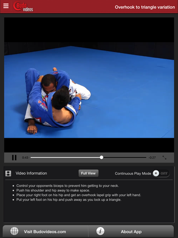 Cobrinha BJJ Vol 3 - Half Guard - ipad chapter action image