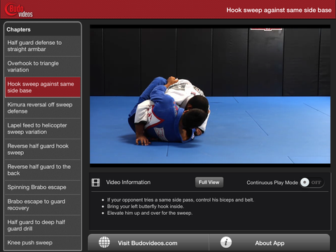 Cobrinha BJJ Vol 3 - Half Guard - ipad landscape menu image