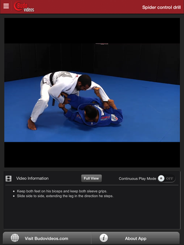 Cobrinha BJJ Vol 4 - Spider Guard - ipad chapter action image