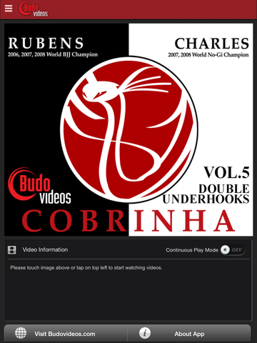 Cobrinha BJJ Vol 5 - Double Underhooks - ipad main title screen image