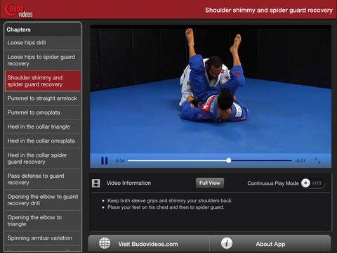 Cobrinha BJJ Vol 5 - Double Underhooks - ipad landscape menu image