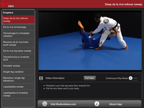 Cobrinha BJJ Vol 6 - Inverted Guard - ipad landscape menu image