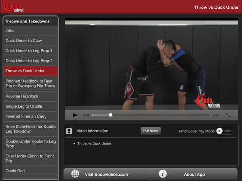 Sambo Jiu-jitsu Fusion Vol 1 - Throws and Takedowns by Vladislav Koulikov - ipad landscape menu image