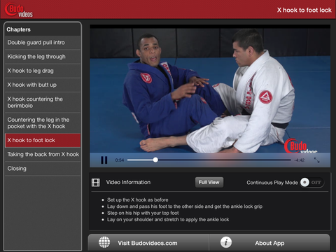Rafael Freitas Favorite Moves - Double Guard Pull - ipad landscape menu image