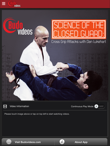 Science of the Closed Guard - Cross Grip Attacks with Dan Lukehart - ipad main title screen image